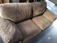 Harveys Jumbo Cord Mink 3 Seater Sofa and Armchair