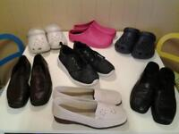 LADIES SIZE 6.5/7 .. SEVEN PAIRS OF SHOES .. FOUR NEW AND UNWORN