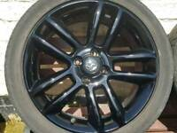 "Vauxhall Corsa D 17"" black edition alloys"