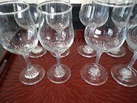 Wine glasses 14 in total