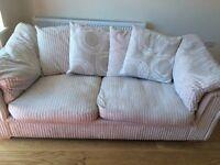 Pair of matching cream sofa