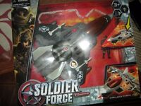 soldier force sound and lights Jet and Pilot in box