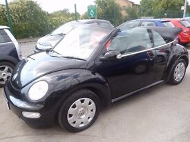 Volkswagen BEETLE Cabriolet,1.6 petrol 2 door soft top,clean tidy car,runs and drives well,RE54ECN