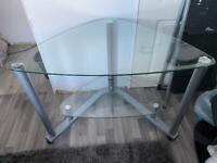 Glass Corner Computer Table