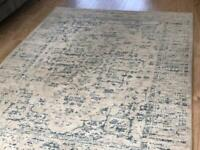 Rustic blue and grey Persian style rug