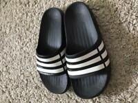Adidas Duramo Slides kids size 2 .