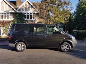 VW Transporter T5 Factory Kombi / Camper. 130BHP, 6 speed, AC, VW Bike rack, towbar