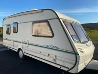 2002 abbey 5/6 berth awning great dry caravan extras
