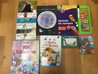 Children books in Spanish an 'pronuntiation' toy