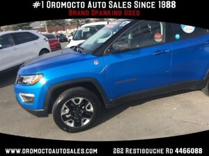2017 Jeep Compass Trailhawk  4x4,SUNROOF,NAV,HEATED LEATHER