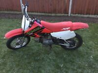 2001 Honda XR 70 cc Childs Off Road Bike V.G.C. For Year Runs Fine,