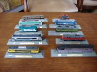 Collection Of Ten Electric and Diesel Locomotives. N Gauge,by Del Prado.