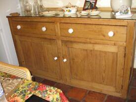 Antique Victorian Large Pine Sideboard/Dresser