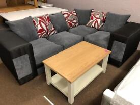 Ex-display**grey and black corner sofa - bargain !!!
