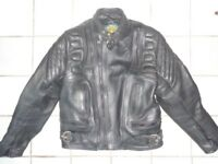 Retro style bikers leather jacket. All zips studs and buckles in working order.
