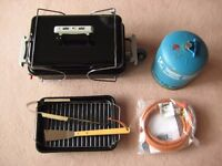 WEBER Portable Gas Go-Anywhere BBQ with Gas Bottle and Hose + Extras. Excellent