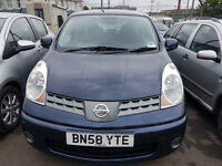 NISSAN NOTE 2008 76,000 MILES 1.4 PETROL MANUAL MPV BLUE