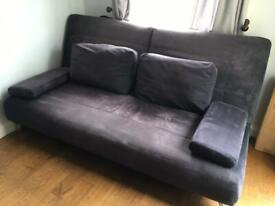 Black fabric king size sofa bed