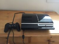 Fat PS3. 80GB. Works well. With 2 x microphones and Singstar