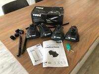 Thule 757 Rapid System Foot pack. 2X Keys, instructions & Box. For Cars With Roof Rails