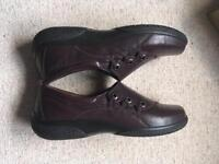 Hotter Burgundy Shout Shoes Size 7.5