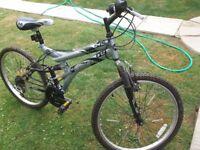 """Boys silver bike 24"""""""