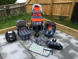 Cosatto Giggle 2 Travel System With Isofix Car seat Base, Toodle Pip Unisex