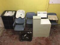 £75 hairdressing kit. Backwash sinks, desk, steriliser, seat, backwash sink and chair unit