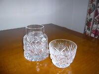 Lovely cut glass carafe and tumbler
