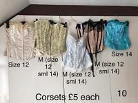 Corset bundle size 12 & 14 (8 corsets 3 skirts)