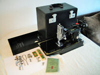 Singer 221K Featherweight Sewing Machine - 1951 Centennial Edition - Complete Package