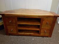 Solid Wood corner TV stand