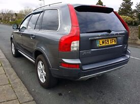 Volvo XC90 2.4 D5 7 Leather Seats DIESEL AUTOMATIC 2009/59 LOW 42300 miles GREY, Parking sensors