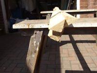 Pine triangular timber