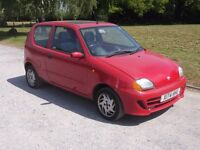 2001 FIAT SEICENTO SPORTING 1.1, MOT JANUARY 2018, ONLY 48,000 MILES, ONLY £395