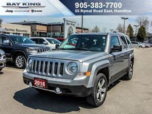 2016 Jeep Patriot HIGH ALTITUDE, 4X4, GPS NAV, SUNROOF, REMOTE S