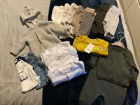 Baby boys up to one month clothes bundle