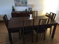 Ikea extendable dining table with 6 chairs £200