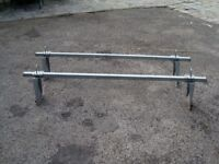 HEAVY DUTY VAN ROOF BARS AS NEW COST £130 ONLY £50 FOR QUICK SALE