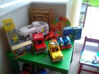 Toy bundle suitable for 18+ months including Thomas the Tank Engine and Postman Pat