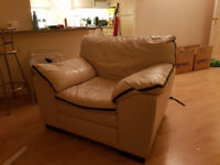 L Shaped Sofa and Armchair (Collection Only)