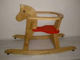 Childrens Wooden Rocking Horse
