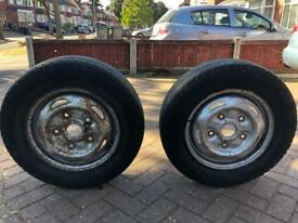 Ford transit van 2 X tyre with wheel