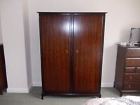 Stag Minstrel double wardrobe very good condition
