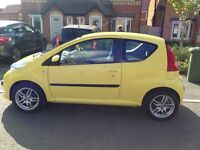 1.0 Peugeot 107, very low mileage, great 1st car, £20 road tax!