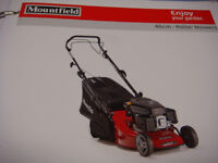 MOUNTFIELD LAWNMOWER WITH ROLLER GRADED BUT AS NEW 100CC ENGINE SINGLE LEVER HEIGHT ADJUSTMENT