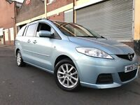 MAZDA5 2008 1.8 TS2 5 door 1 OWNER, FULL SERVICE HISTORY, 6 MONTHS WARRANTY, 7 SEATER, BARGAIN