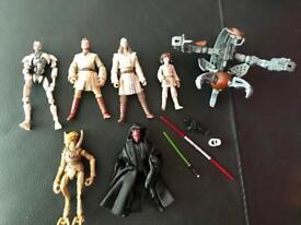 Star Wars Prequel Trilogy Vintage Collection Figure Bundle Clone Wars Darth Maul Obi Wan Kenobi
