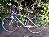 Bike, Helmet, Lock and Tire pump