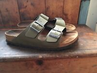 Birkenstock Arizona, USED ONLY ONCE - Men's Bout Ouvert, Green (Pull Up Olive), 7.5 UK (41 EU)